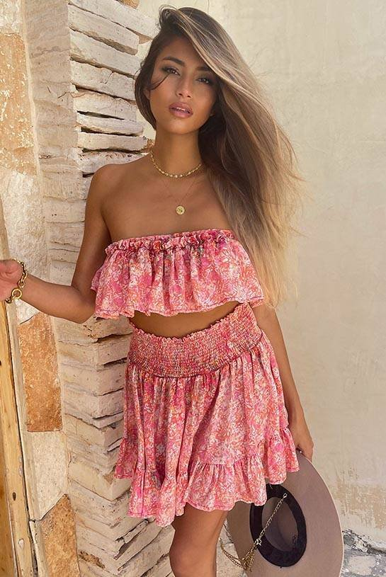 MARGARITA - CHARMING VISCOSE SET WITH A WASHED EFFECT