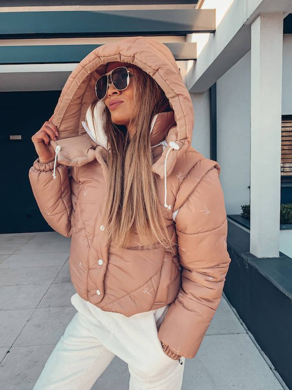 SHEILA LOGO JACKET BEIGE SHORT 2IN1 VEST | AW20