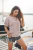 LONG TSHIRT POWDER PINK WITH SHEILA GIRL EMBROIDERY | SHEILA SS20